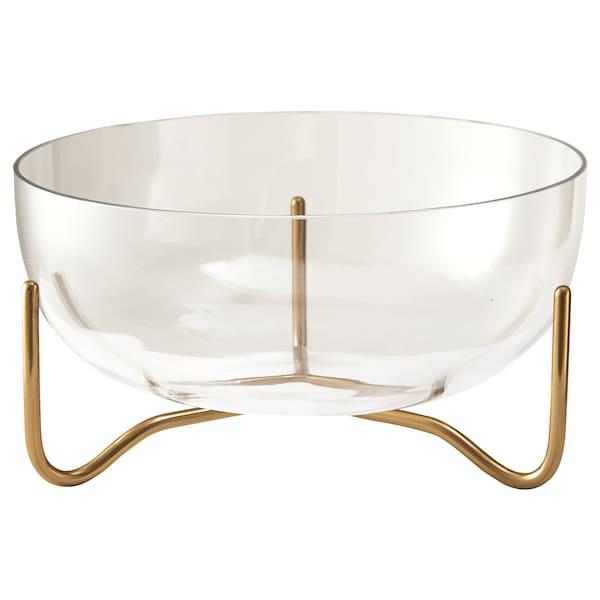 MASKERING Bowl, clear glass, 20 cm