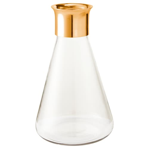 MASKERING vase clear glass 13 cm 13 cm 21 cm