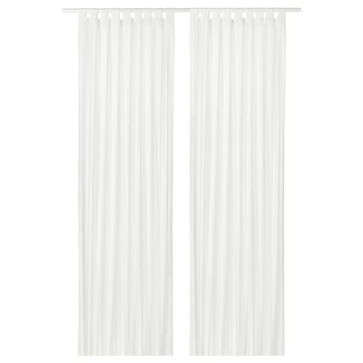 MATILDA Sheer curtains, 1 pair, white, 140x300 cm
