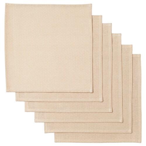 MATVANOR napkin beige 33 cm 33 cm 6 pack