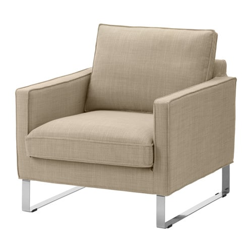 Mellby armchair isunda beige ikea for Housse sofa ikea
