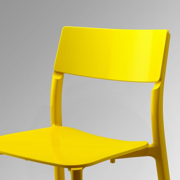 MELLTORP / JANINGE table and 4 chairs white/yellow 125 cm 75 cm 72 cm