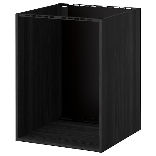 METOD base cabinet for built-in oven/sink wood effect black 59.0 cm 60.0 cm 60.0 cm 60.0 cm 80.0 cm