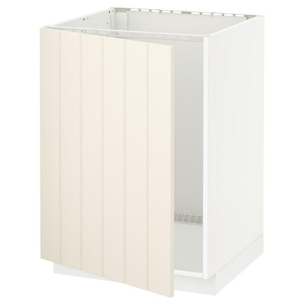 METOD base cabinet for sink white/Hittarp off-white 60.0 cm 61.8 cm 88.0 cm 60.0 cm 80.0 cm
