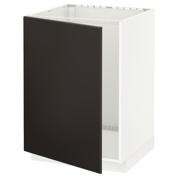METOD base cabinet for sink white/Kungsbacka anthracite 60.0 cm 61.6 cm 88.0 cm 60.0 cm 80.0 cm
