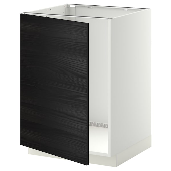 METOD base cabinet for sink white/Tingsryd black 60.0 cm 61.6 cm 88.0 cm 60.0 cm 80.0 cm