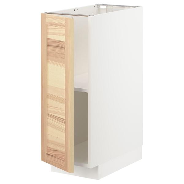 METOD base cabinet with shelves white/Torhamn ash 30.0 cm 61.6 cm 88.0 cm 60.0 cm 80.0 cm