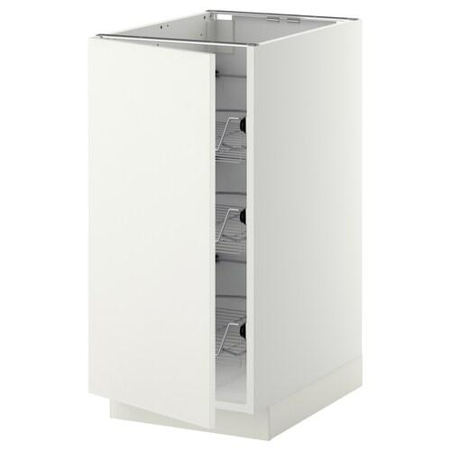 METOD base cabinet with wire baskets white/Häggeby white 40.0 cm 61.6 cm 88.0 cm 60.0 cm 80.0 cm