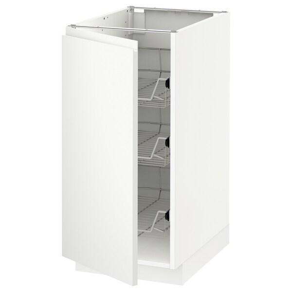 METOD base cabinet with wire baskets white/Voxtorp matt white 40.0 cm 62.1 cm 88.0 cm 60.0 cm 80.0 cm