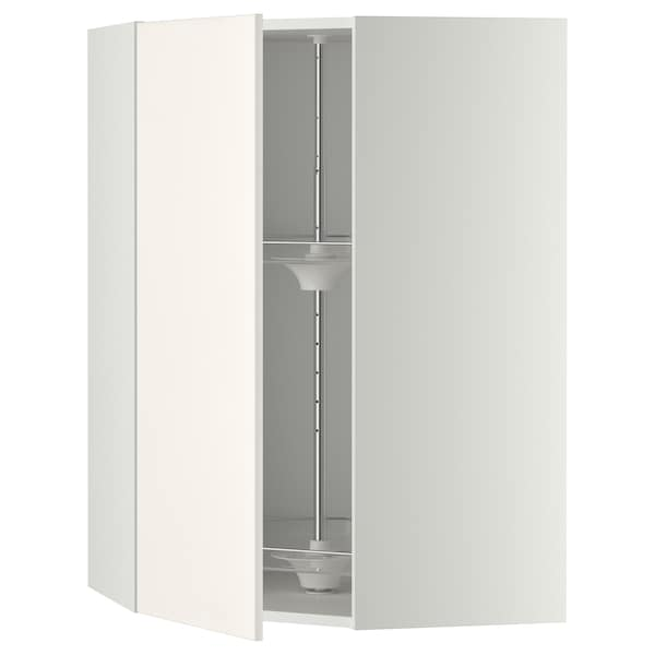 METOD corner wall cabinet with carousel white/Veddinge white 67.5 cm 67.5 cm 100.0 cm