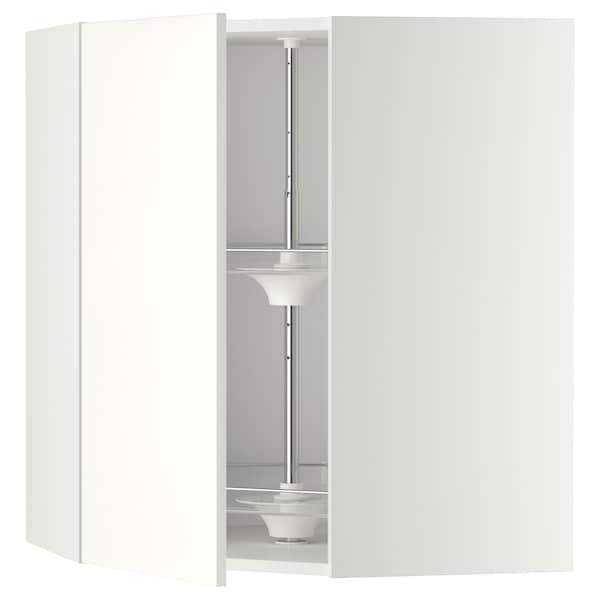 METOD corner wall cabinet with carousel white/Häggeby white 67.5 cm 67.5 cm 80.0 cm
