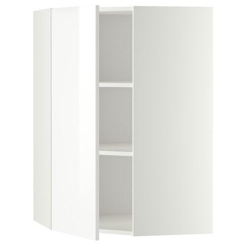METOD corner wall cabinet with shelves white/Ringhult white 67.5 cm 67.5 cm 100.0 cm