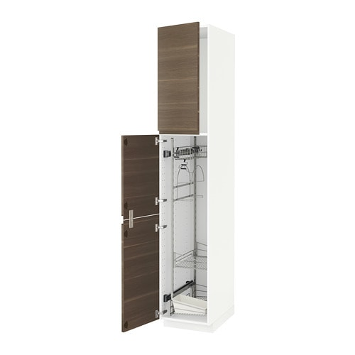 Metod high cabinet with cleaning interior ikea for Kitchen cabinets jeddah