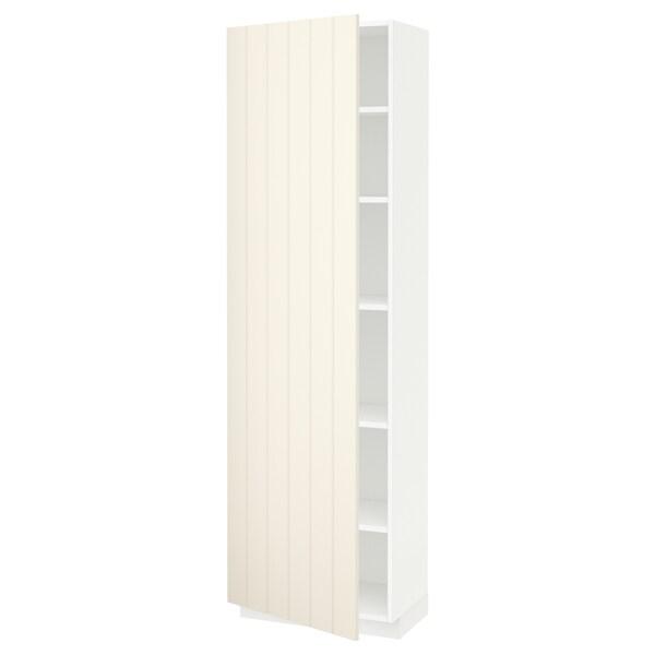 METOD high cabinet with shelves white/Hittarp off-white 60.0 cm 39.4 cm 208.0 cm 37.0 cm 200.0 cm