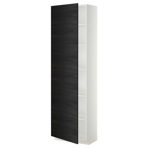 METOD high cabinet with shelves white/Tingsryd black 60.0 cm 39.2 cm 208.0 cm 37.0 cm 200.0 cm
