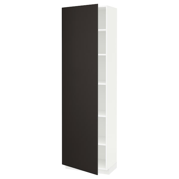 METOD high cabinet with shelves white/Kungsbacka anthracite 60.0 cm 39.2 cm 208.0 cm 37.0 cm 200.0 cm