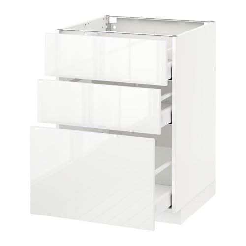 Metod Maximera Base Cabinet With 3 Drawers