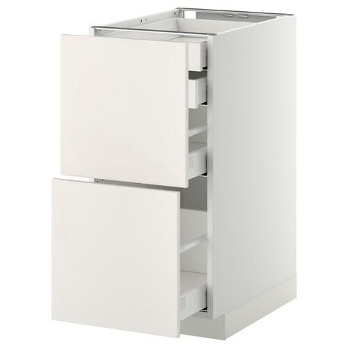 METOD / MAXIMERA base cb 2 frnts/2 low/1 md/1 hi drw white/Veddinge white 40.0 cm 61.6 cm 88.0 cm 60.0 cm 80.0 cm
