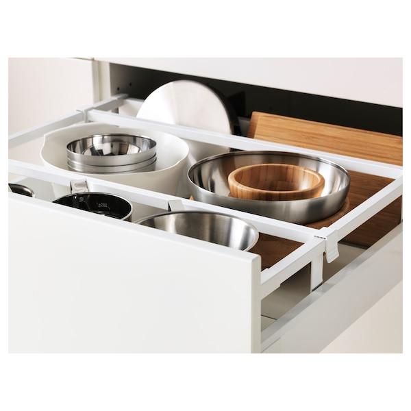 METOD / MAXIMERA خزانة عالية+أرفف/4أدراج/باب/2, أبيض/Bodbyn أبيض-عاجي, 60x60x220 سم