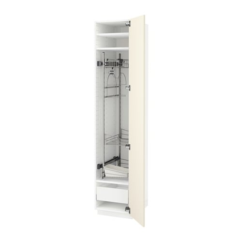 Metod Ikea metod maximera high cabinet with cleaning interior white
