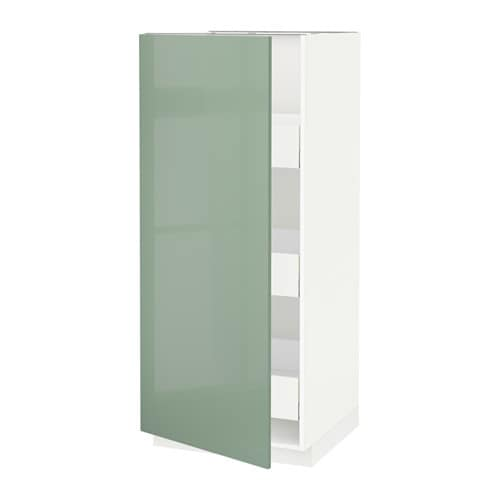 METOD / MAXIMERA High cabinet with drawers - white ...