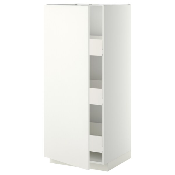 METOD / MAXIMERA high cabinet with drawers white/Häggeby white 60.0 cm 61.6 cm 148.0 cm 60.0 cm 140.0 cm