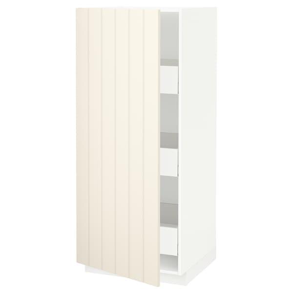 METOD / MAXIMERA high cabinet with drawers white/Hittarp off-white 60.0 cm 61.8 cm 148.0 cm 60.0 cm 140.0 cm