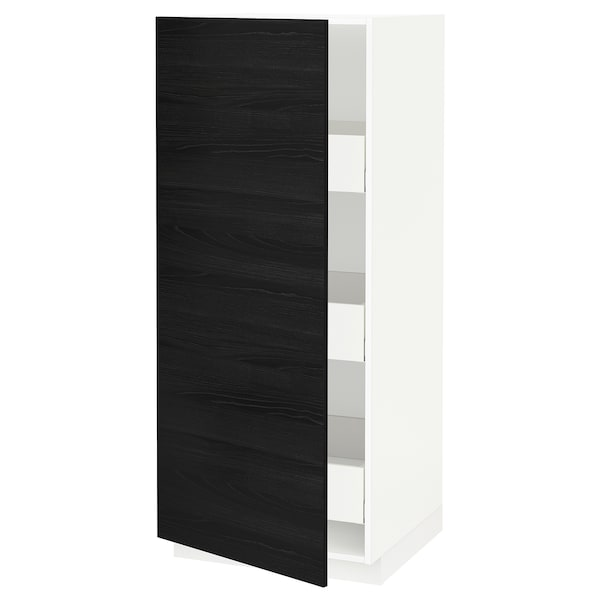 METOD / MAXIMERA high cabinet with drawers white/Tingsryd black 60.0 cm 61.6 cm 148.0 cm 60.0 cm 140.0 cm