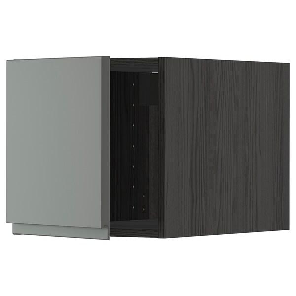 METOD Top cabinet, black/Voxtorp dark grey, 40x40 cm