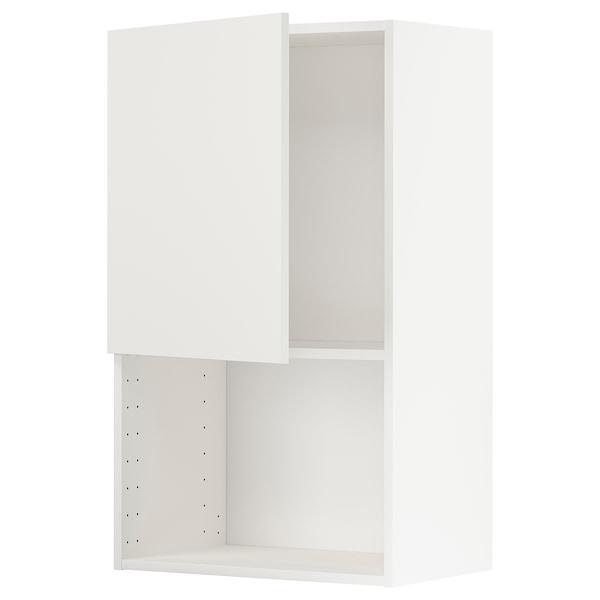 METOD خزانة حائط لفرن المايكروويف, أبيض/Häggeby أبيض, 60x100 سم