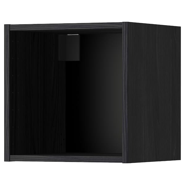 METOD Wall cabinet frame, wood effect black, 40x37x40 cm