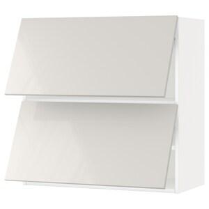 Front: Ringhult high-gloss light grey.