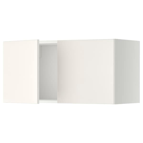 METOD wall cabinet with 2 doors white/Veddinge white 80.0 cm 38.6 cm 40.0 cm