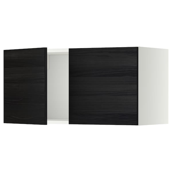 METOD wall cabinet with 2 doors white/Tingsryd black 80.0 cm 38.6 cm 40.0 cm