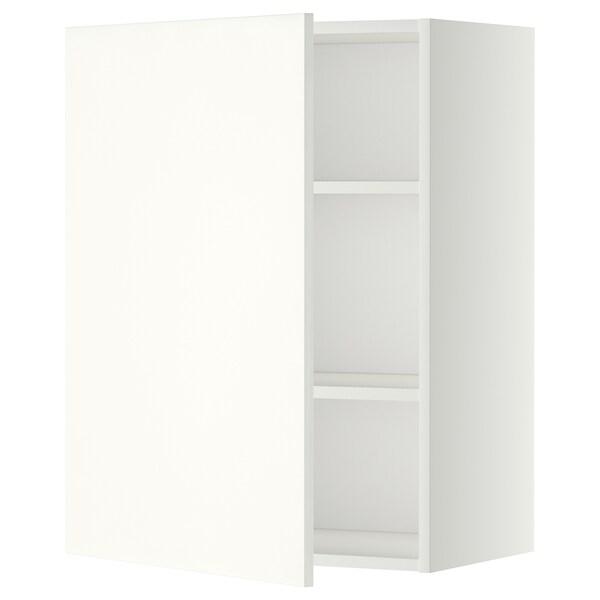 METOD خزانة حائط مع أرفف, أبيض/Häggeby أبيض, 60x80 سم