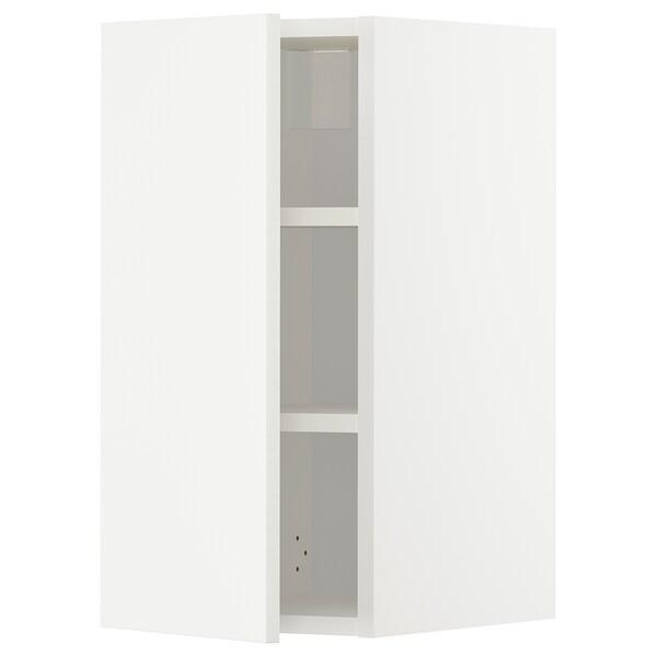 METOD خزانة حائط مع أرفف, أبيض/Häggeby أبيض, 30x60 سم