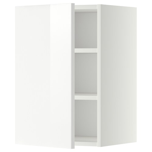 METOD wall cabinet with shelves white/Ringhult white 40.0 cm 38.8 cm 60.0 cm