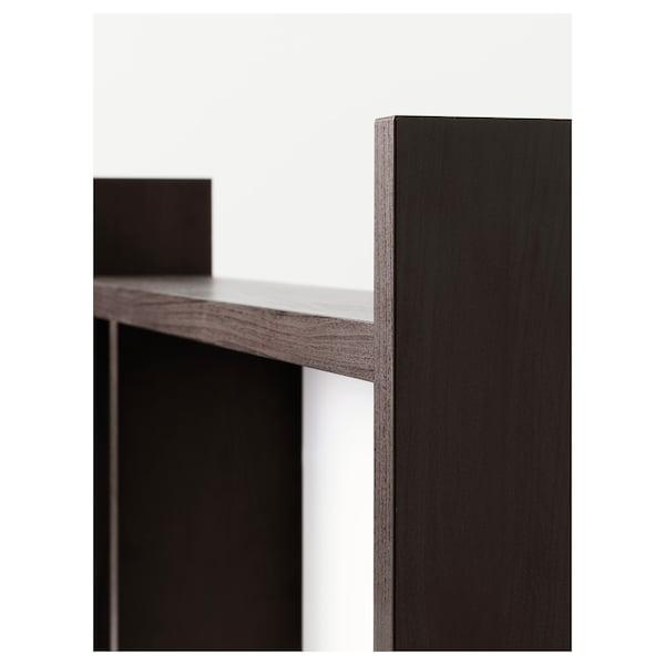 MICKE Add-on unit high, black-brown, 105x65 cm