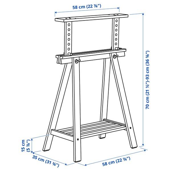 MITTBACK Trestle, birch, 58x70/93 cm