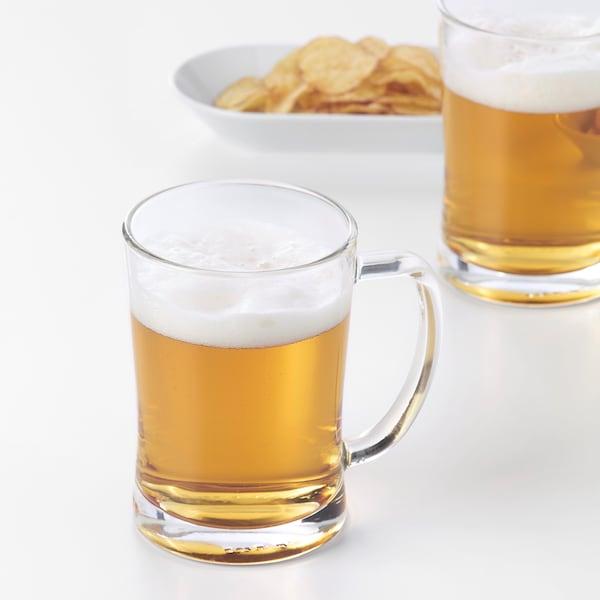 MJÖD Beer tankard, clear glass, 60 cl