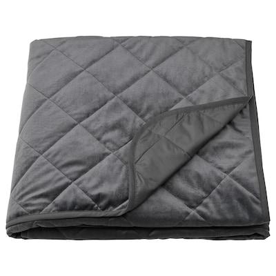 MJUKPLISTER غطاء سرير, رمادي غامق, 260x250 سم
