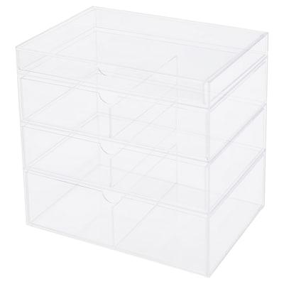 MOJAN تخزين أدوات تجميل مع ٤ أدراج, 25.5x18 سم