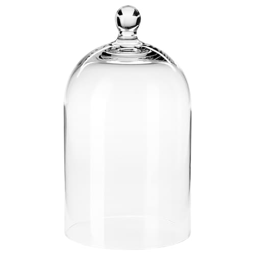 MORGONTIDIG glass dome clear glass 25 cm 14 cm