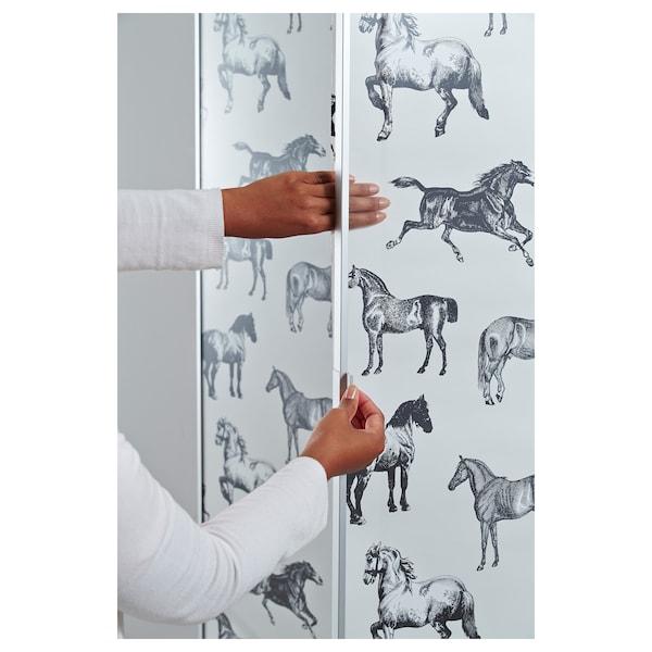 MORLIDEN Glass door, aluminium, 40x192 cm