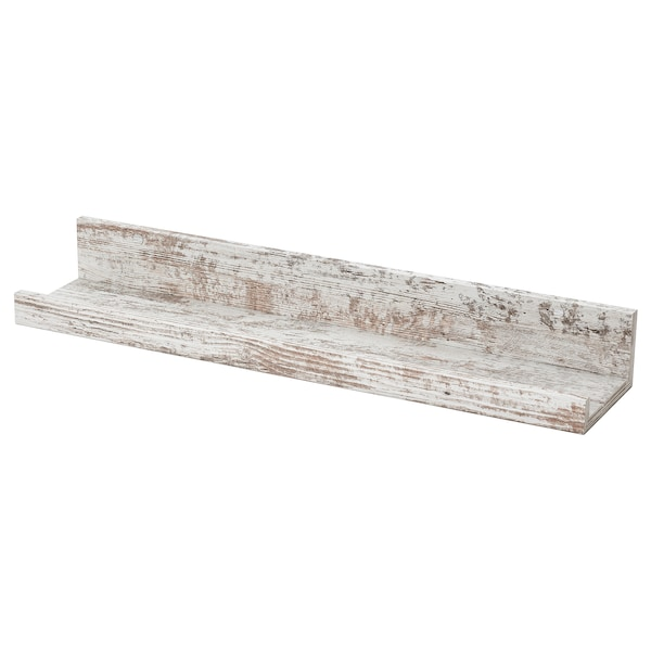 MOSSLANDA Picture ledge, white stained pine effect, 55 cm