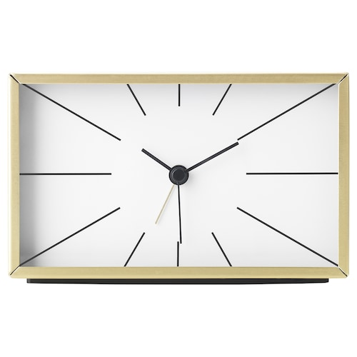 MYGGJAGARE alarm clock brass-colour 7 cm 10 cm 15 cm