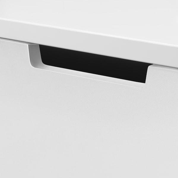 NORDLI خزانة بـ 6 أدراج, أبيض/فحمي, 80x99 سم