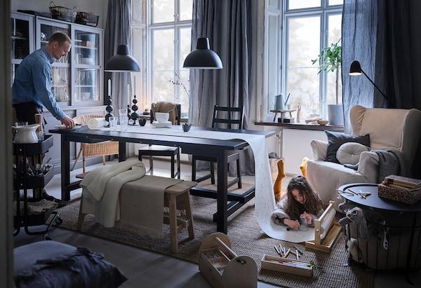 NORDVIKEN Chair, black