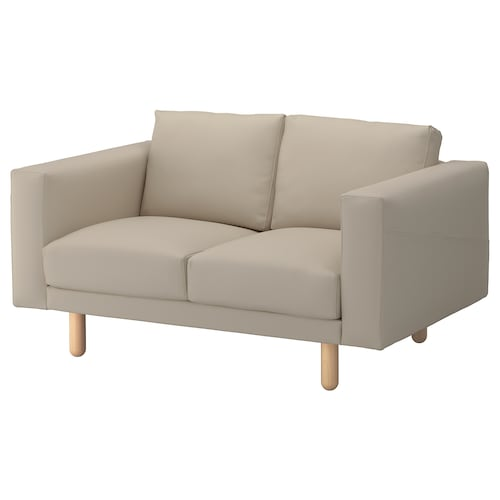 NORSBORG 2-seat sofa Edum beige/birch 153 cm 88 cm 85 cm 18 cm 60 cm 43 cm