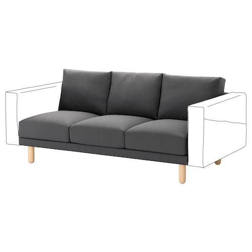 NORSBORG 3-seat section Finnsta dark grey/birch 181 cm 88 cm 85 cm 18 cm 60 cm 43 cm